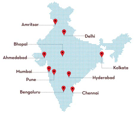 jasti.com service location map of india