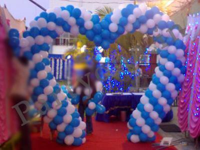 how to make balloon decoration for birthday party at home?